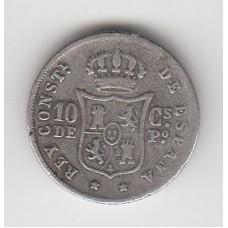 10 сентаво, Испанские Филиппины, 1885