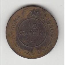10 чентезимо, Итальянское Сомали, 1950