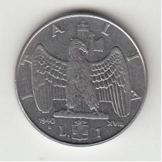 1 лира, Италия, 1940