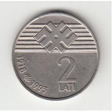 2 лата, Латвия, 1993