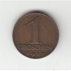 1 грош, Австрия, 1927