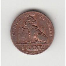 1 сантим, Бельгия, 1912