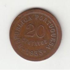 20 сентаво, Португальская Гвинея, 1933