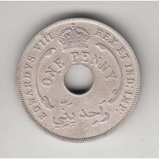 1 пенни, Британская Западная Африка, 1936