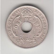 1 пенни, Британская Западная Африка, 1943