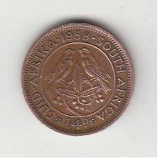 1/4 цента, Южная Африка, 1958