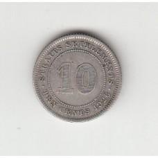10 центов, Стрейтс-Сеттльментс, 1926