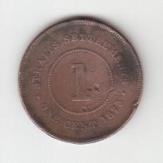 1 цент, Стрейтс-Сеттльментс, 1873