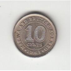 10 центов, Малайя и Британский Борнео, 1961