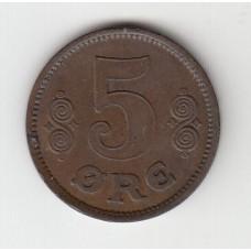 5 эре, Дания, 1916