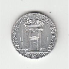 1 лира, Ватикан, 1950