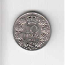 10 динаров, Югославия, 1938
