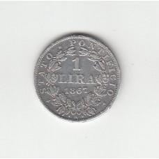 1 лира, Ватикан, 1867