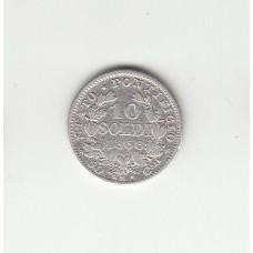 10 сольдо, Ватикан, 1868