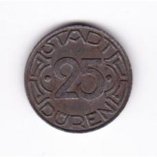 25 пфеннигов, нотгельд, Дюрен, Германия, 1919