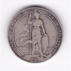 1 флорин, Великобритания, 1907
