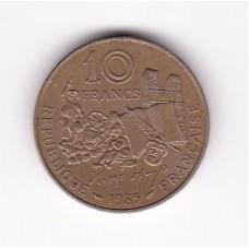 10 франков, Франция, 1985