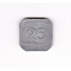 25 сантимов, нотгельд, Париж, Франция, 1921