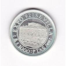 1000 песет, Испания, 1992